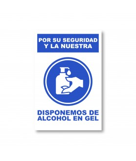 CARTEL ALCOHOL EN GEL
