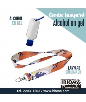 COMBO LANYARDS ALCOHOL EN GEL